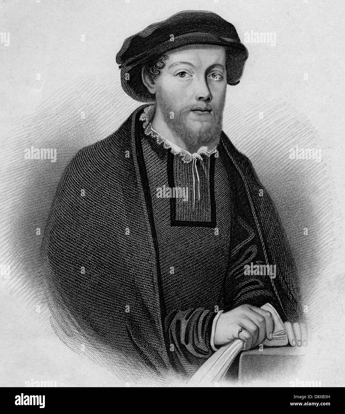George Wishart (1513 – 1546), Scottish religious reformer and Protestant martyr. - Stock Image