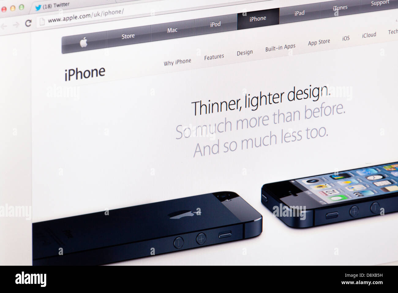 Apple iPhone 5 Store Buy Online Website or web page on a laptop