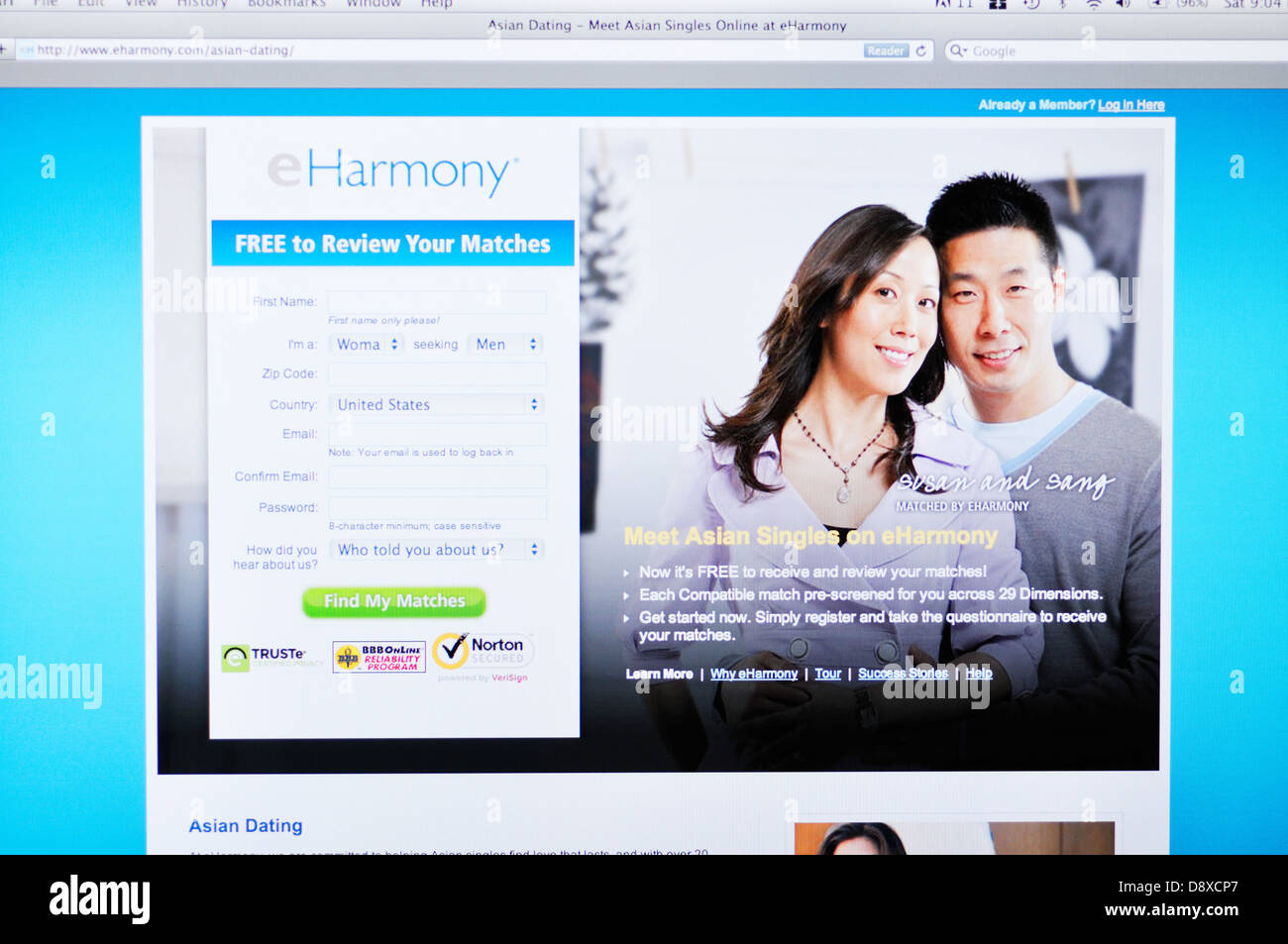 harmony dating website