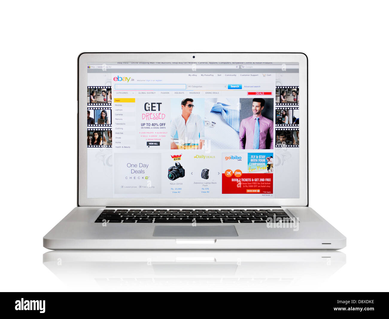 India Ebay Online Shopping Website Stock Photos & India Ebay