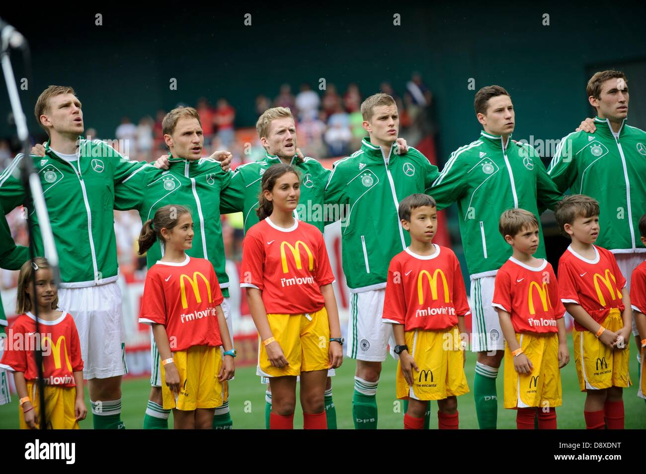 June 2, 2013 - Washington Dc, District of Columbia, U.S - June 02, 2013: Members of The German National Team stand - Stock Image