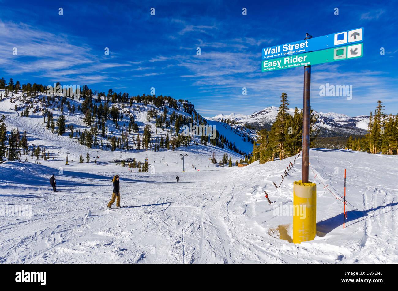 mammoth mountain ski area, mammoth lakes, california usa stock photo