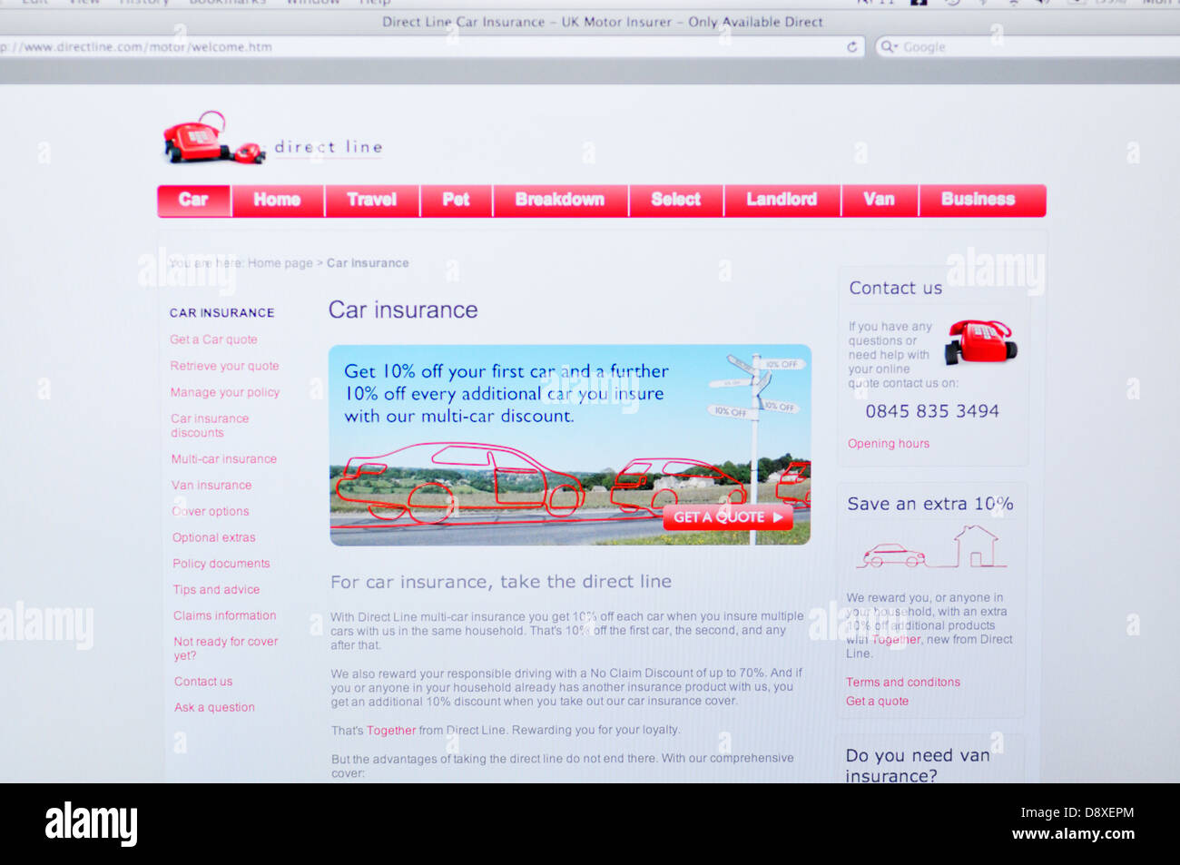 Business Use Car Insurance Direct Line