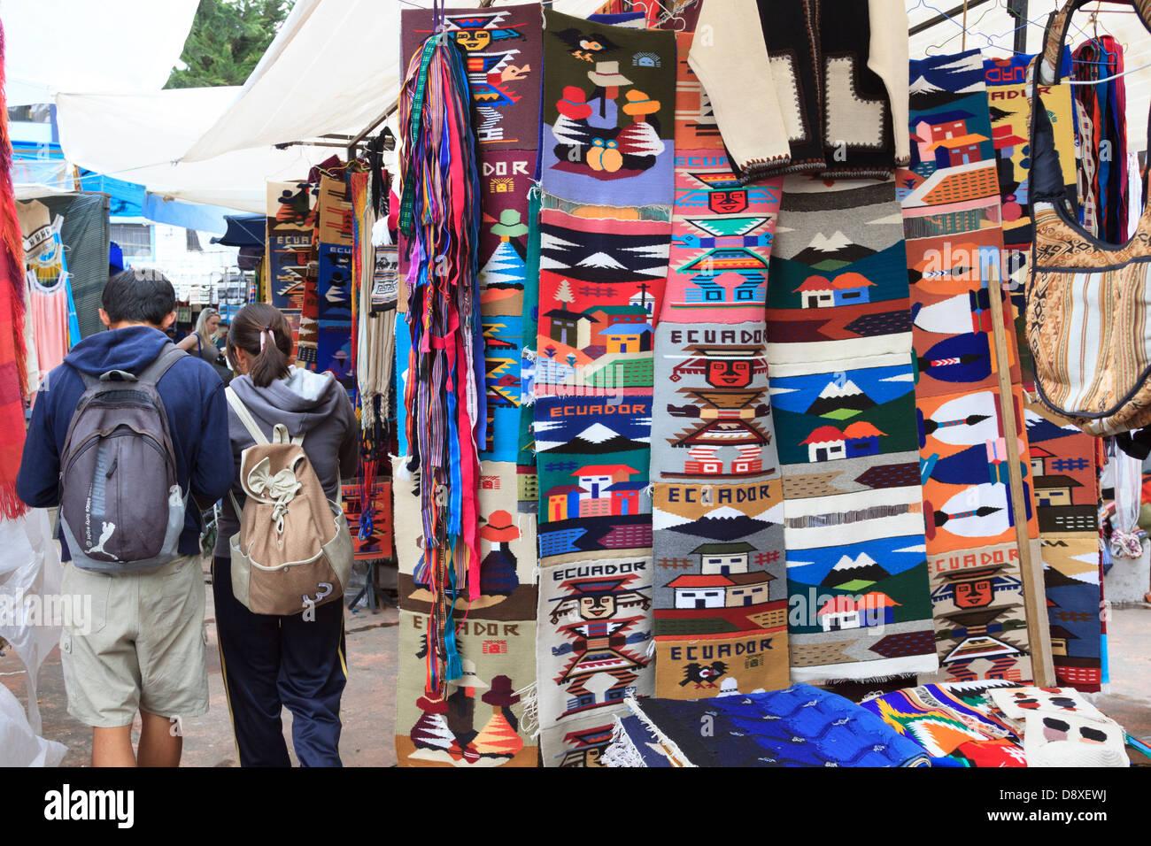 Saturday Market, Otavalo, Ecuador - Stock Image