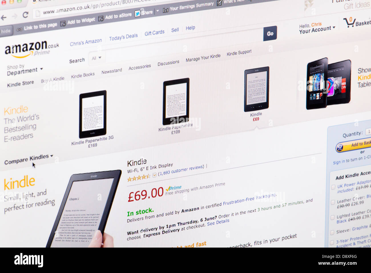 Amazon Kindle Stock Photos & Amazon Kindle Stock Images - Alamy