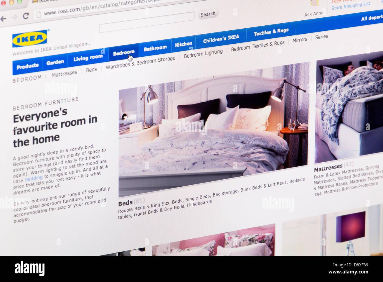 Ikea Website Screen Stock Photos & Ikea Website Screen Stock