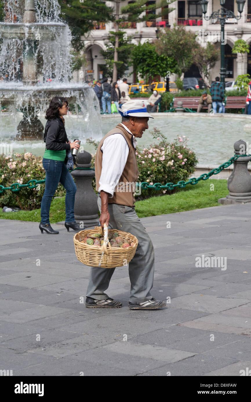 Plaza de Armas, Cathedral, Arequipa, Peru Stock Photo