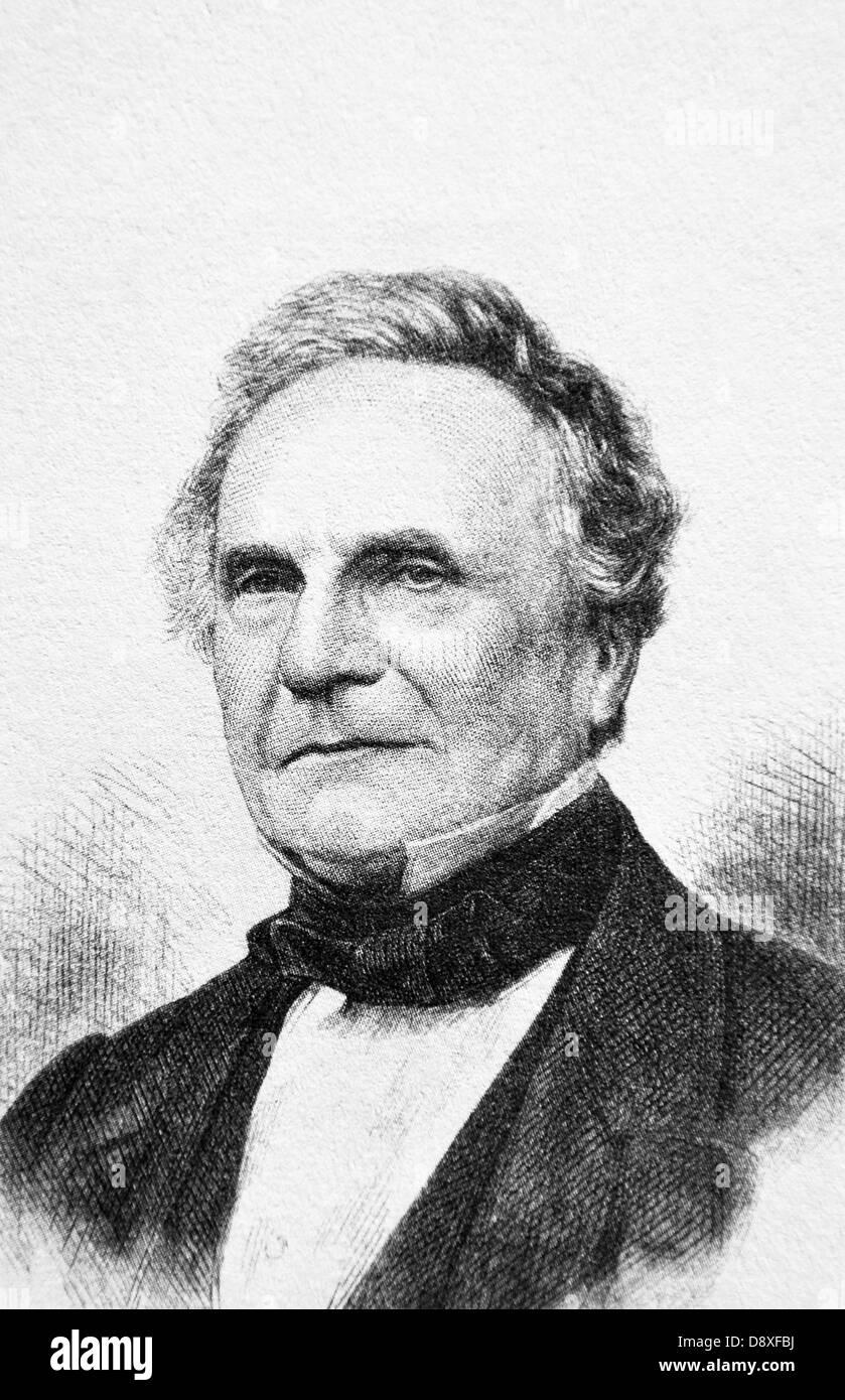 Charles Babbage, British mathematician, philosopher, computer scientist (1791 - 1871) - Stock Image