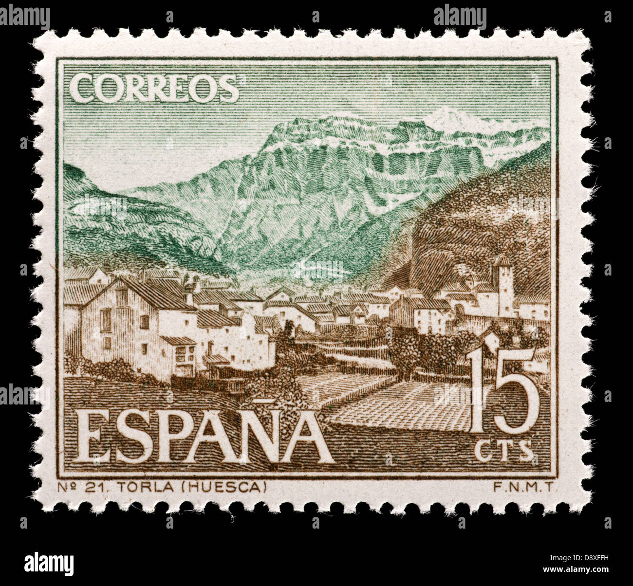 Postage Stamp From Spain Depicting Torla Huesca