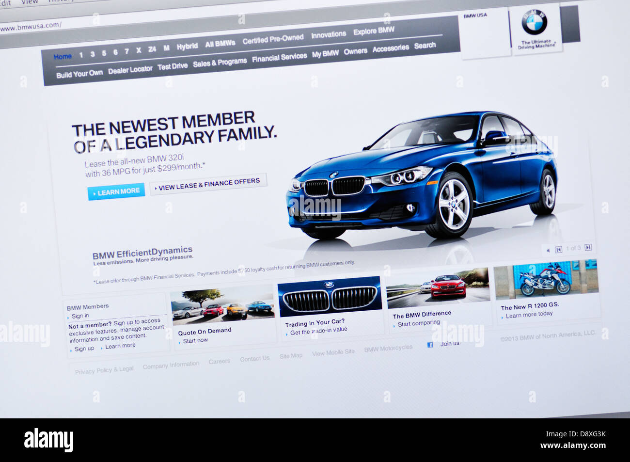 Bmw German Car Manufacturer Website Stock Photo Alamy