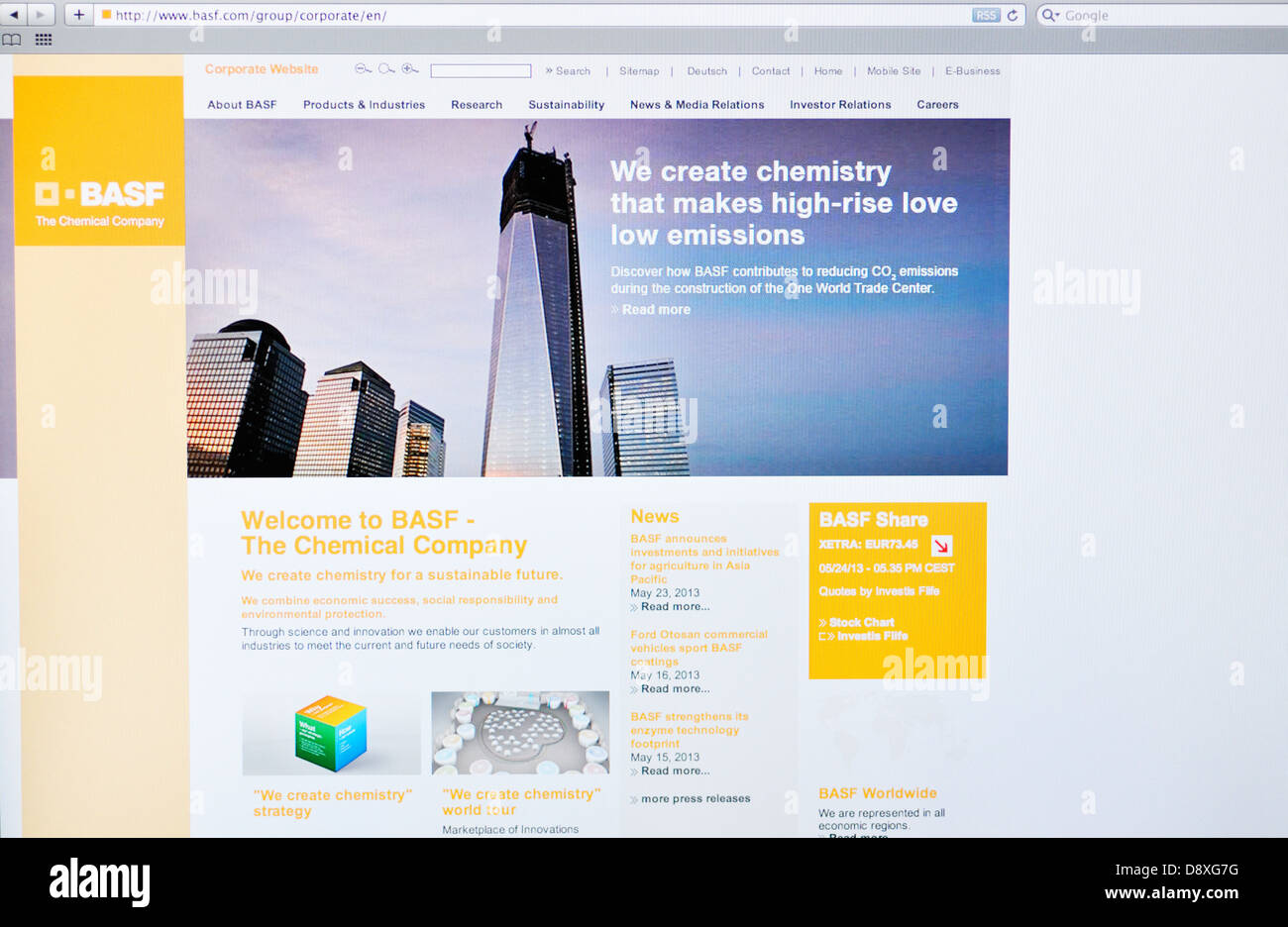 BASF Chemical Company Website