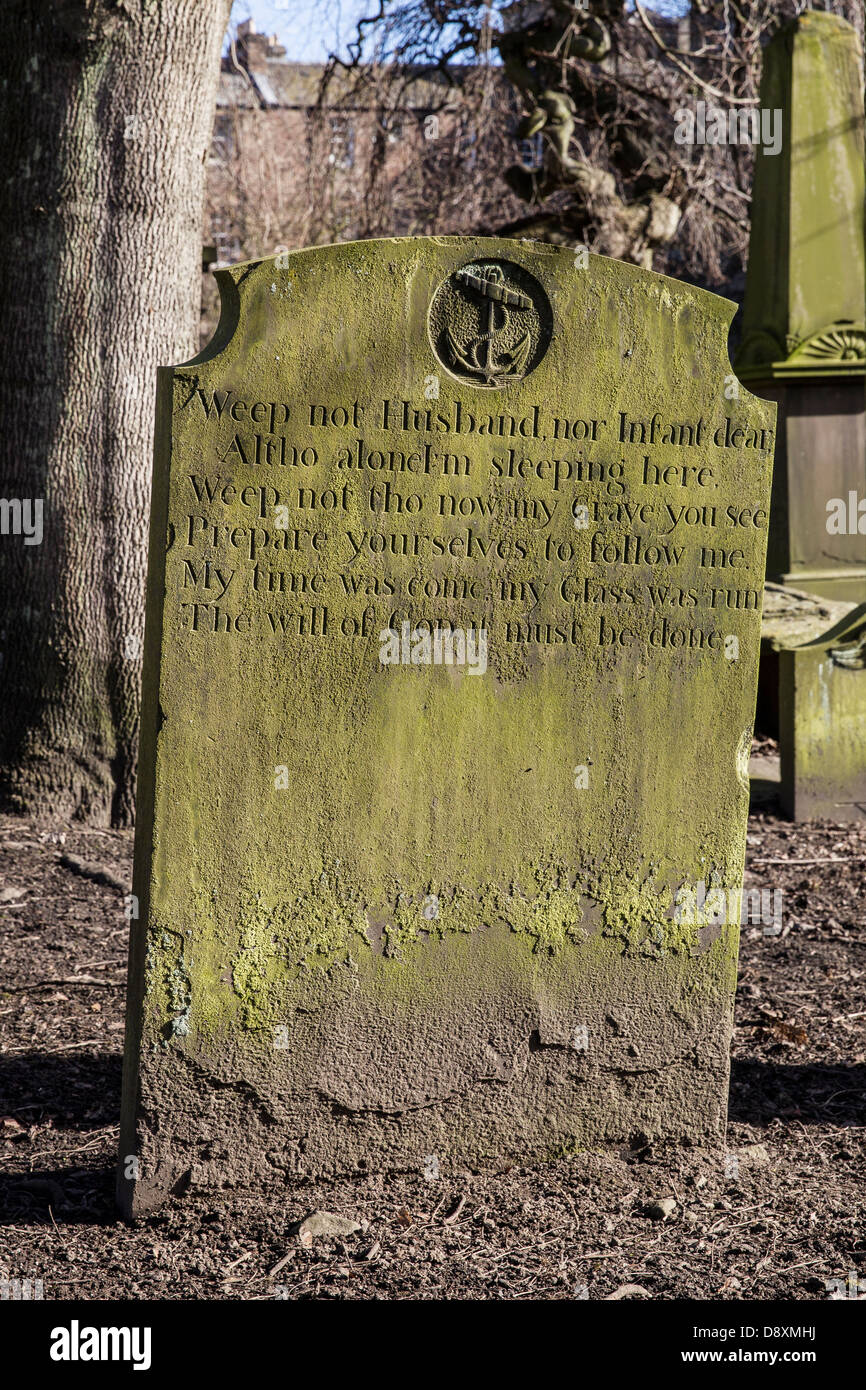 old grave headstone stone cemetery burial plot uk - Stock Image