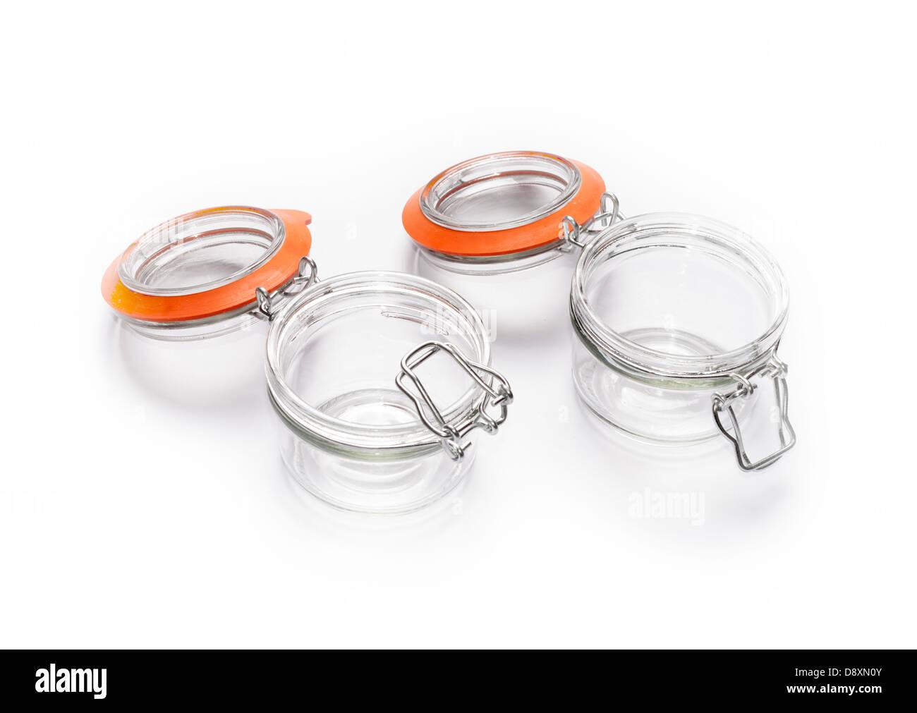 Kilner style preserves Jars - Stock Image