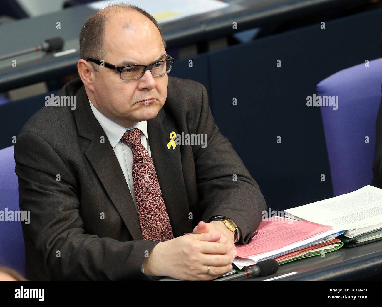 Berlin, Germany. 6th June 2013. Christian Schmidt, Parliamentary State Secretary, attends the debate in the German - Stock Image