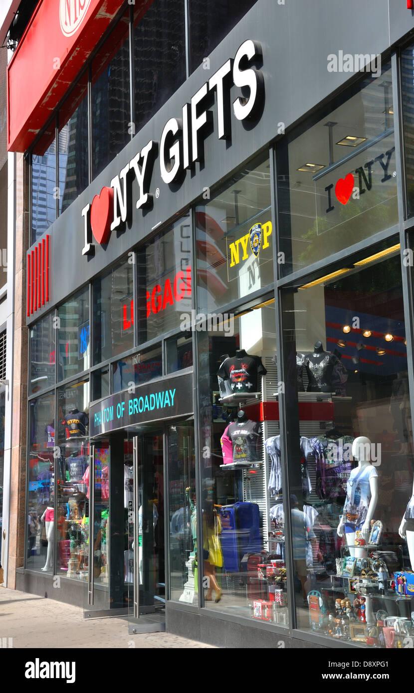 I Love NY Gift Shop In New York City, USA Stock Photo