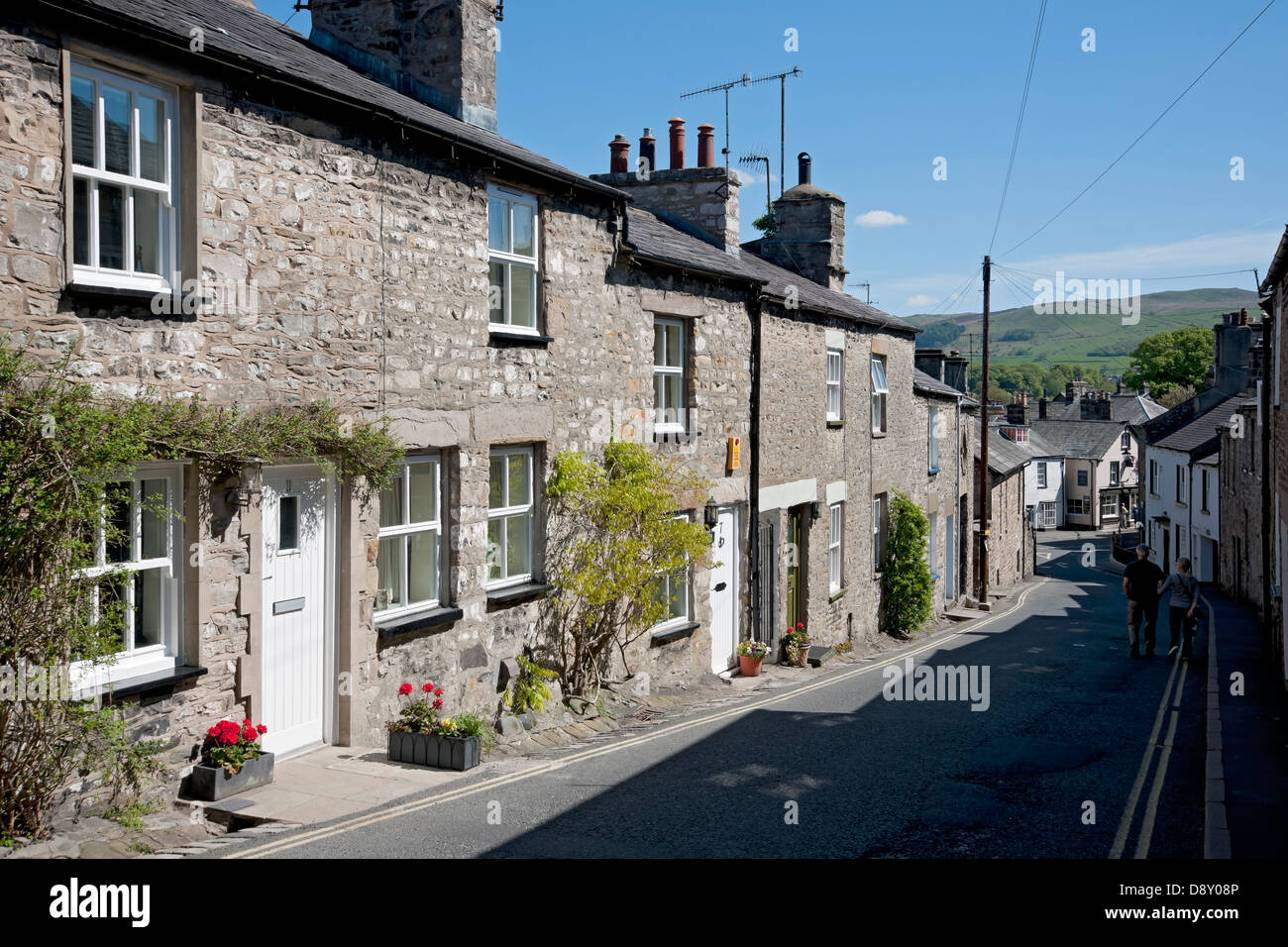 Row Of Cottages Mitchelgate Kirkby Lonsdale Cumbria