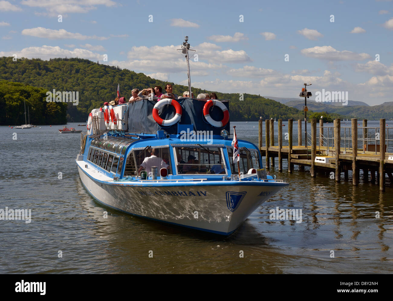 'Miss Cumbria IV'. Bowness-on Windermere, Lake District National Park, Cumbria, England, United Kingdom, - Stock Image