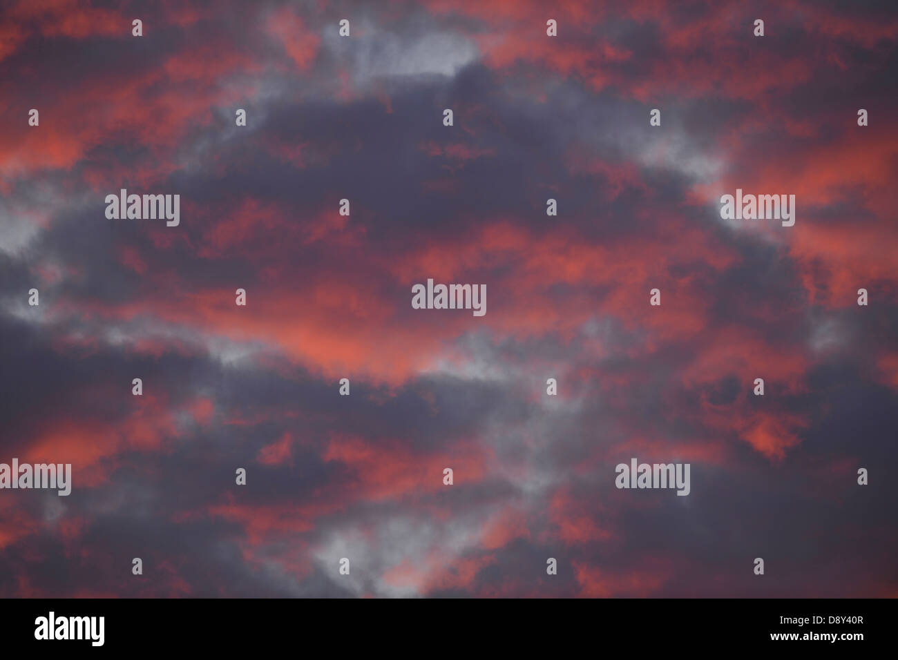 Clouds in the sky in the afterglow - Stock Image