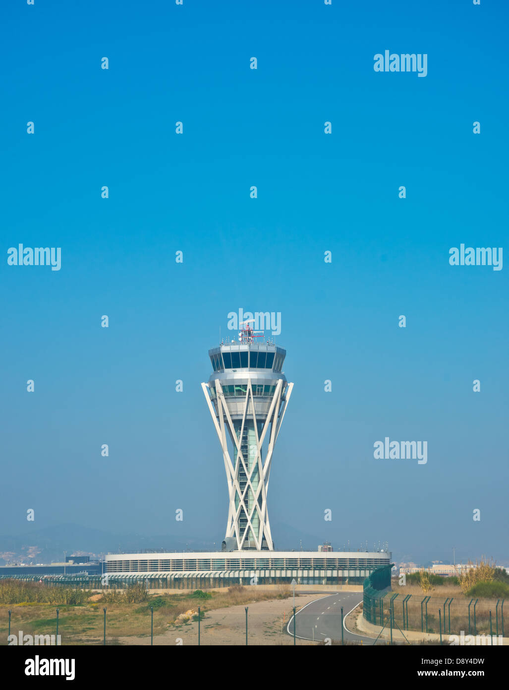 Air traffic control tower at an airport - Stock Image