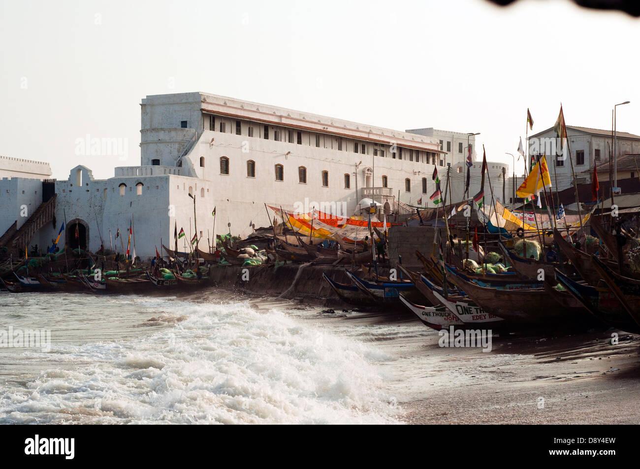 cape coast castle, cape coast, ghana, africa - Stock Image