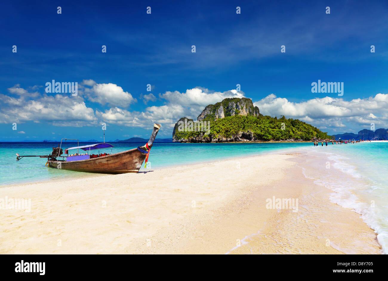 Tropical beach, Tub Island, Andaman Sea, Thailand - Stock Image