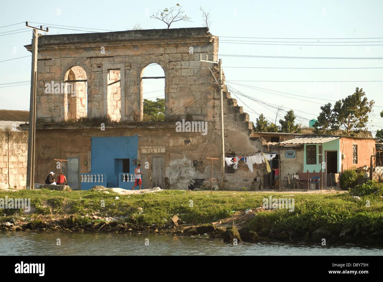 Matanzas Matanzas province two rivers bridges Cuidad de los puentes barrios cabildos Rio Yumuri literature architecture - Stock Image