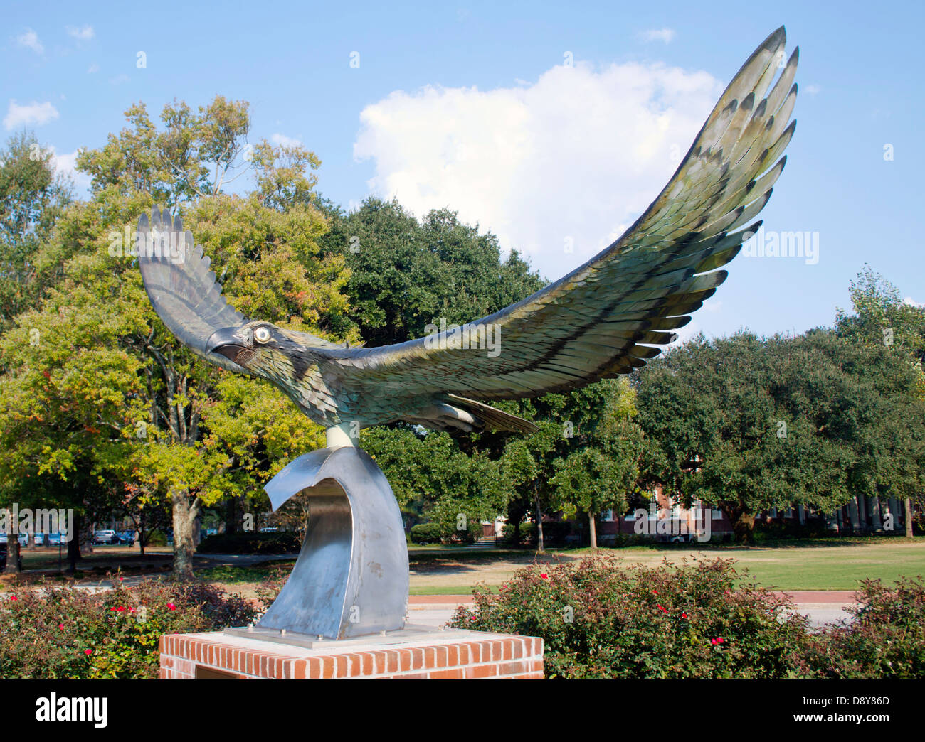 Worlds Largest Seahawk Sculpture at the University of North Carolina in Wilmington Stock Photo