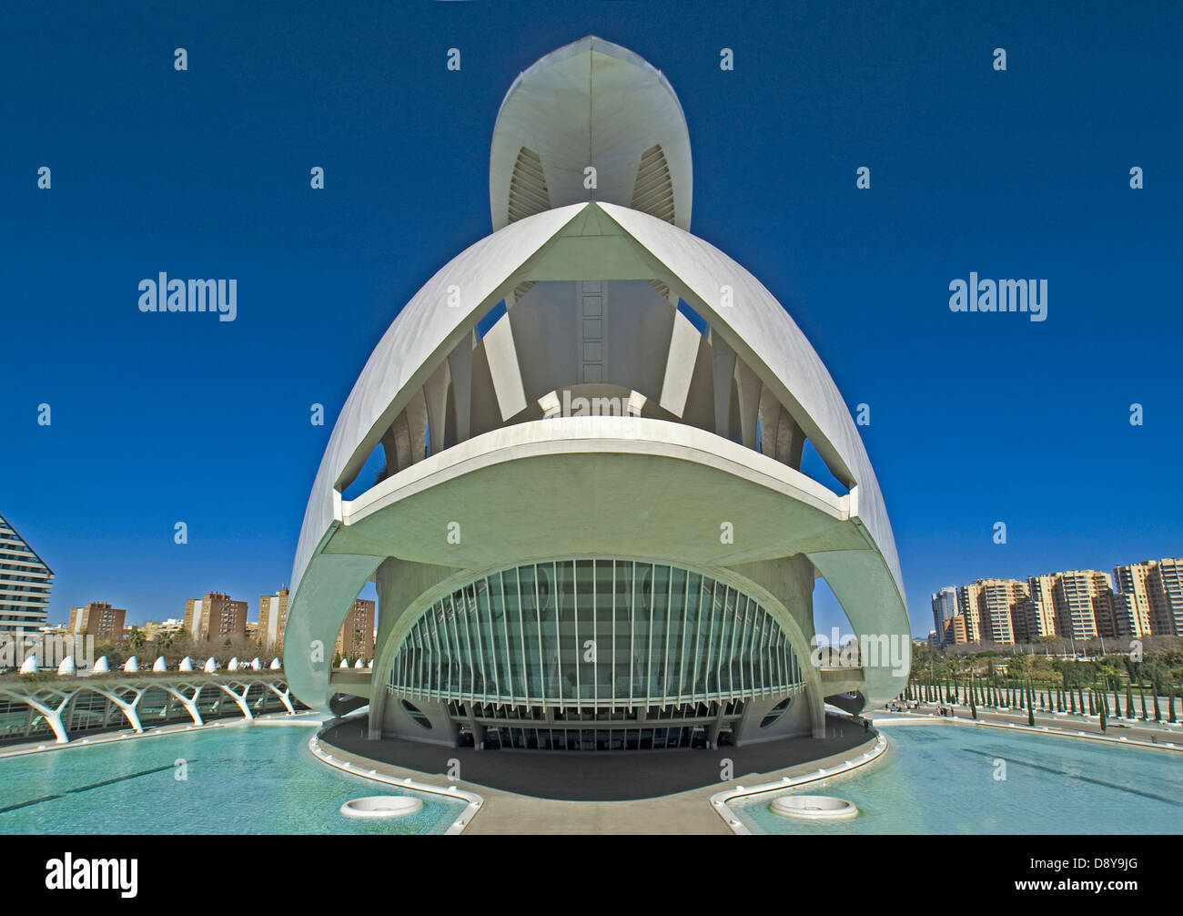 Palau de les Arts in the City of the Arts and the Sciences in Valencia. - Stock Image
