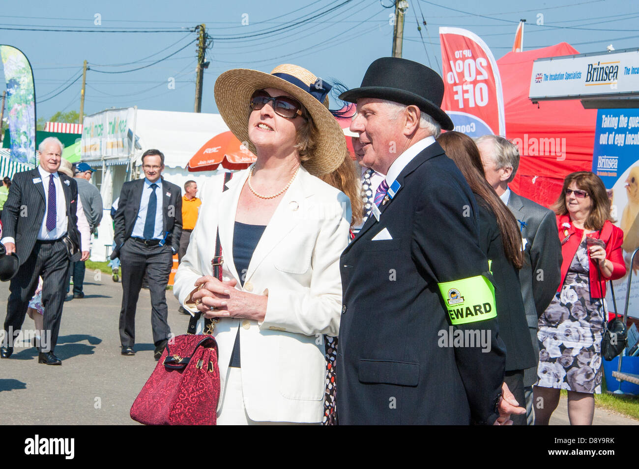 Ardingly, UK. 6th June, 2013. Penelope Keith opens The World of Poultry at the South of England Show, Ardingly. - Stock Image