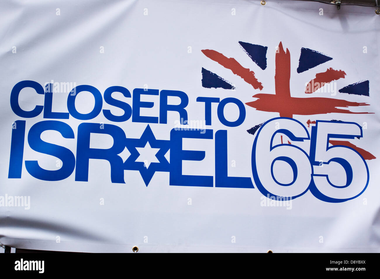 Closer to Israel 65-London - Stock Image