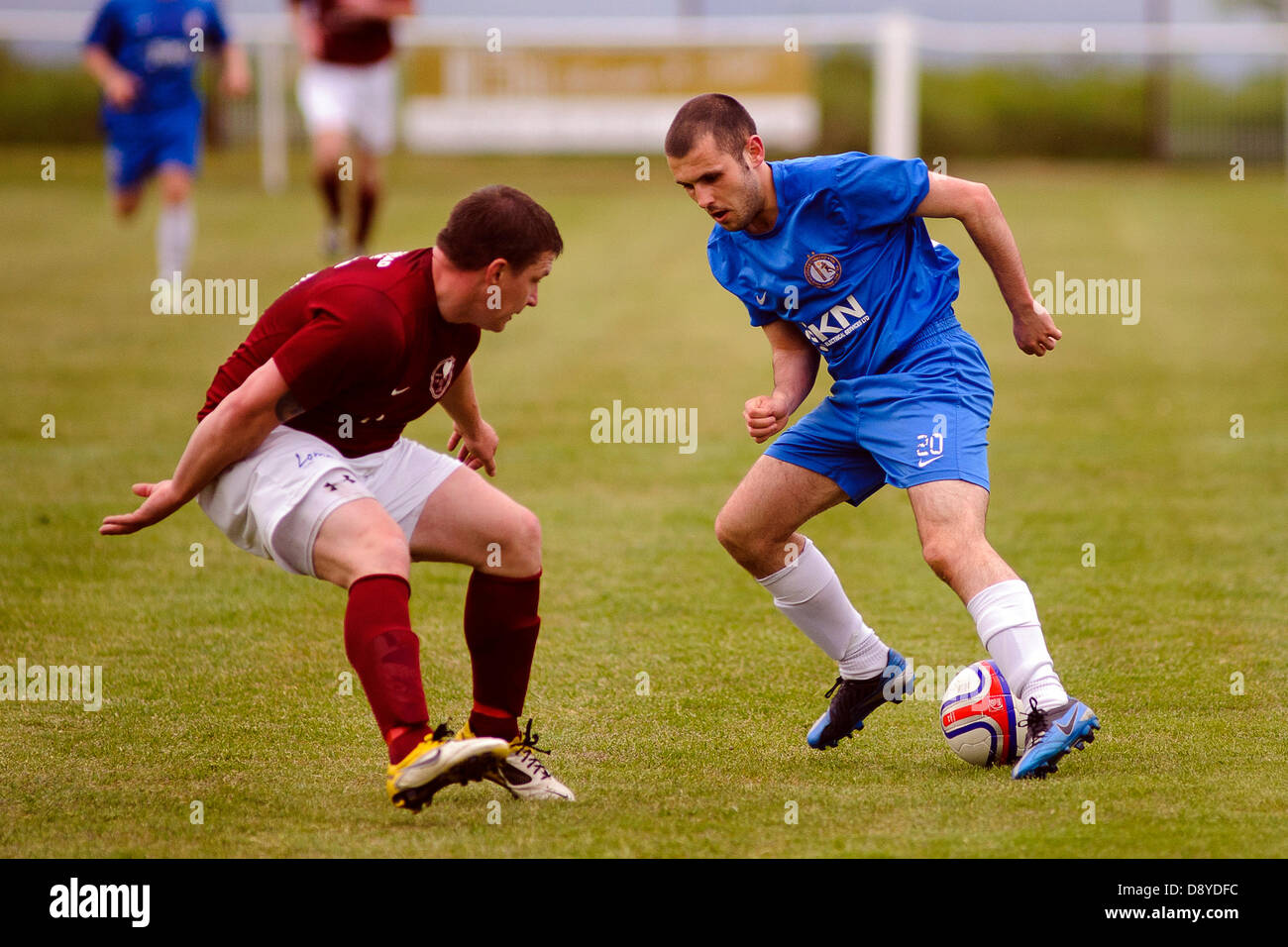 Kelty, Fife, Scotland, UK. 5th June 2013. Lochee on the attack during the East Region Super league match, Kelty - Stock Image
