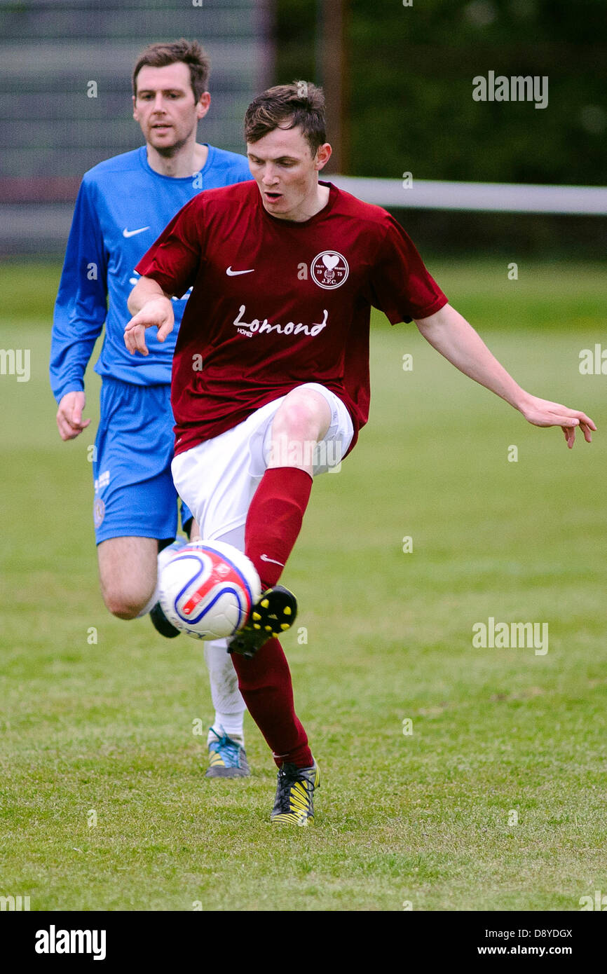 Kelty, Fife, Scotland, UK. 5th June 2013. Neil McCabe (cabey) during the East Region Super league match, Kelty v - Stock Image