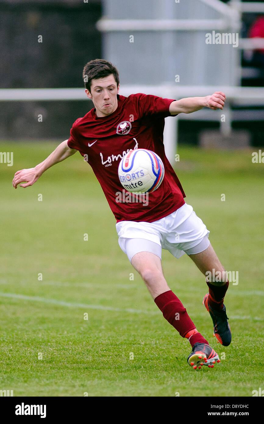 Kelty, Fife, Scotland, UK. 5th June 2013. Jason Penman during the East Region Super league match, Kelty v Lochee - Stock Image