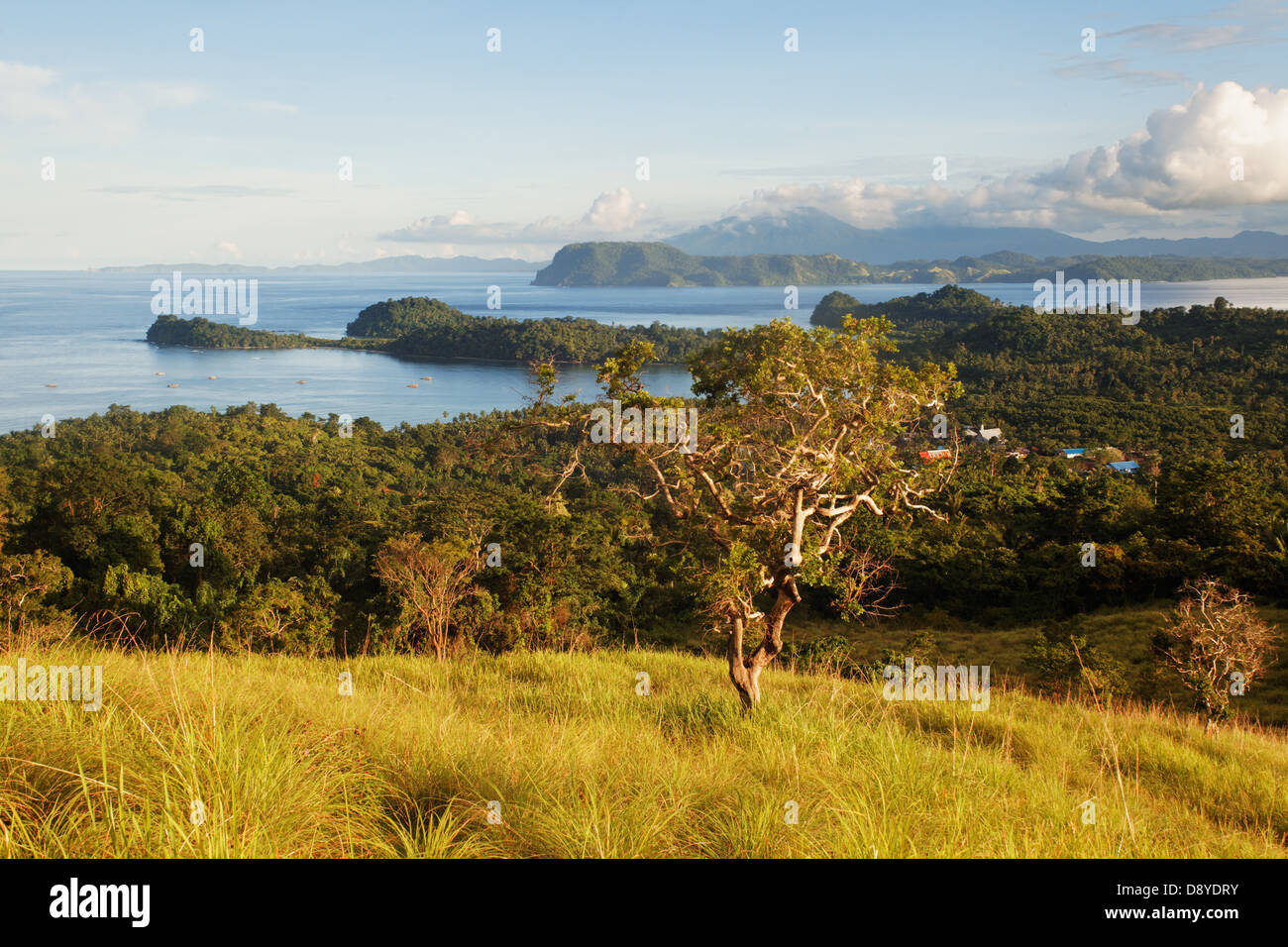 View from Bangka Island against Lembeh Strait, Sulawesi, Indonesia - Stock Image