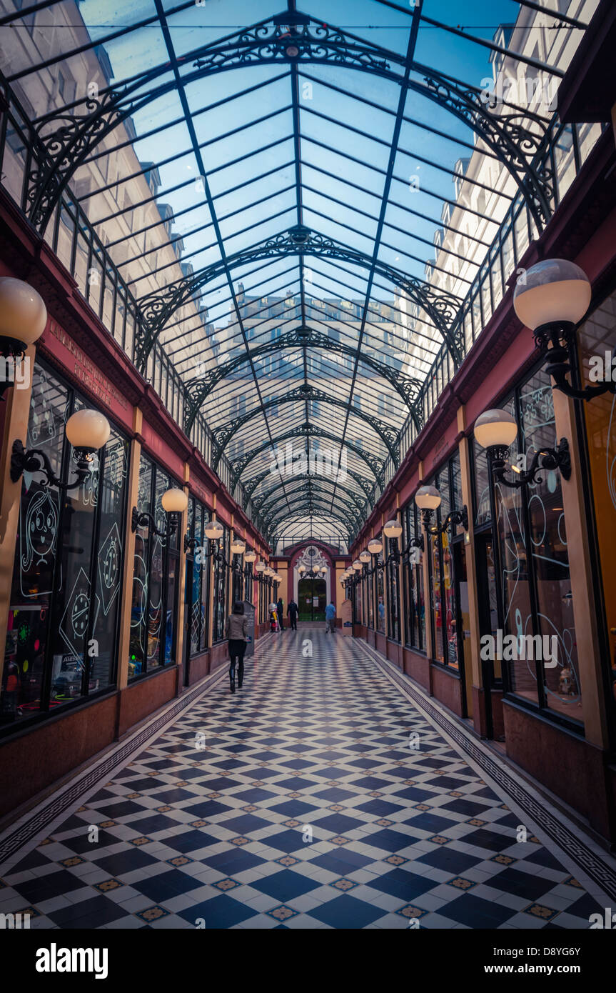 A covered passage in Paris, France - Stock Image