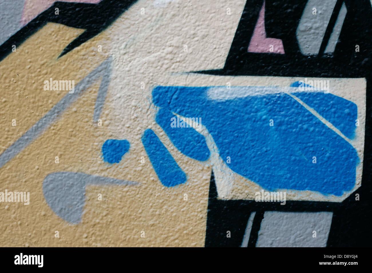 Graffiti on a wall Stock Photo