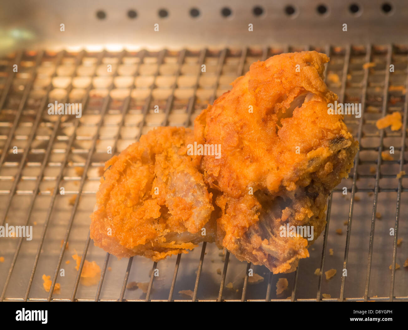 southern fried chicken in take away - Stock Image