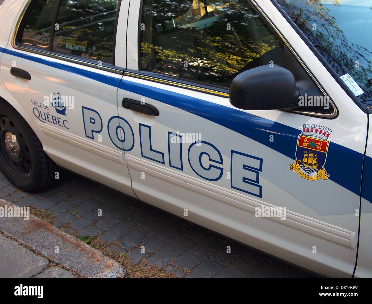 Quebec City police car, Quebec City, Quebec, Canada - Stock Image