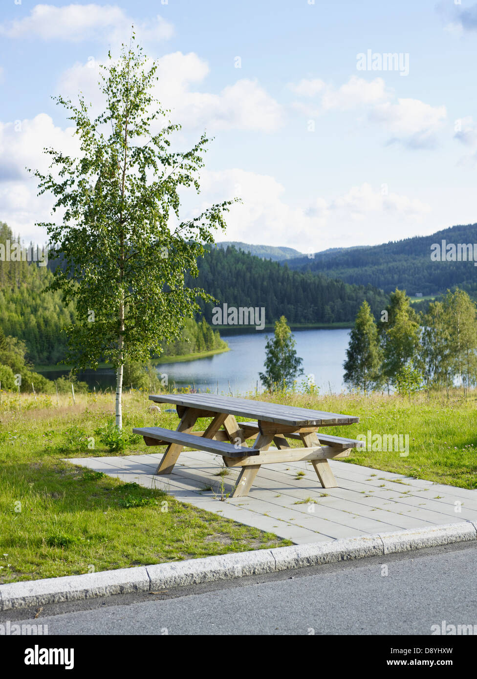 A resting-place in Hoga Kusten, Sweden. - Stock Image