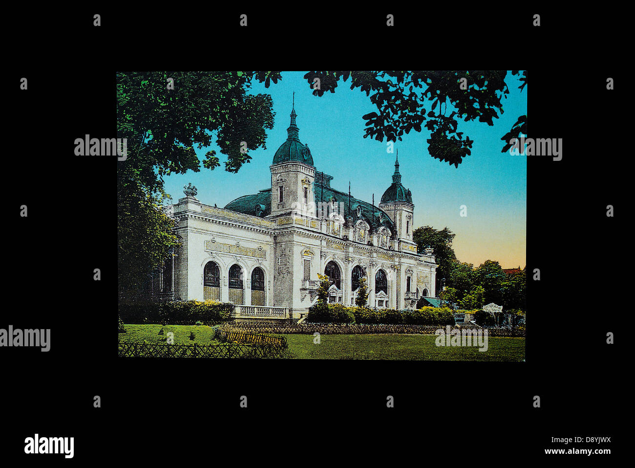a n house in an old post card - Stock Image