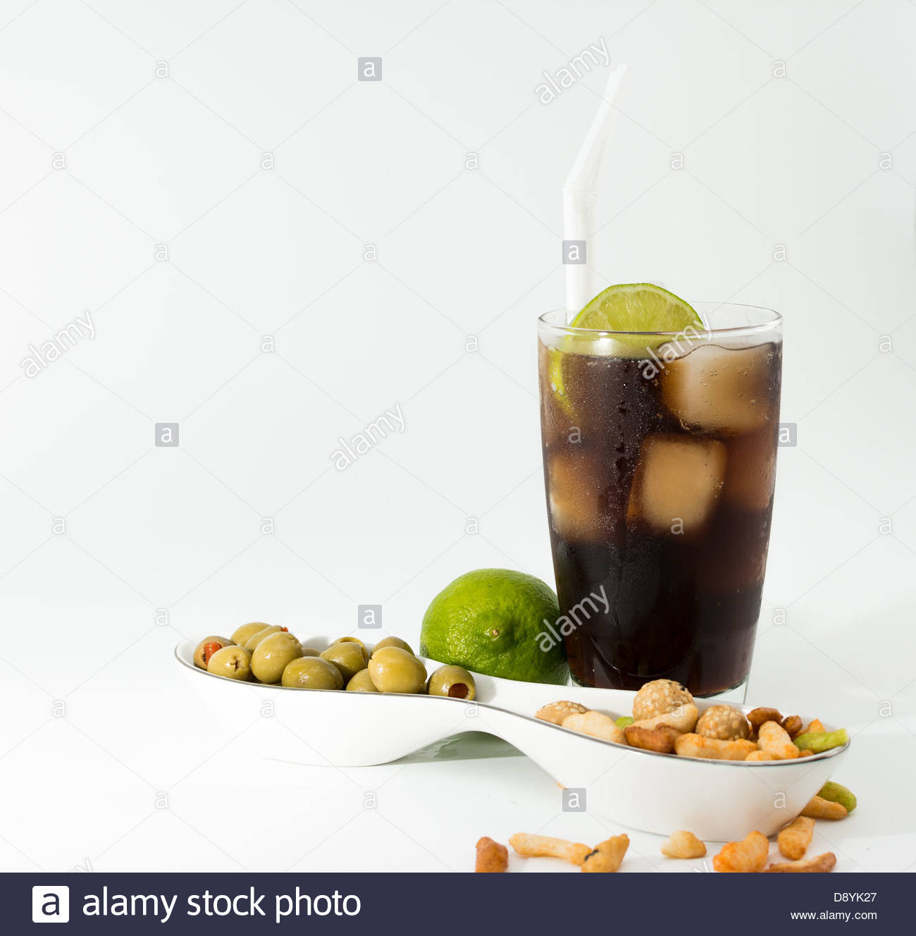Cuba Libre Cocktail. One of the most popular cocktails in the world. Also known as Rum and Coke - Stock Image
