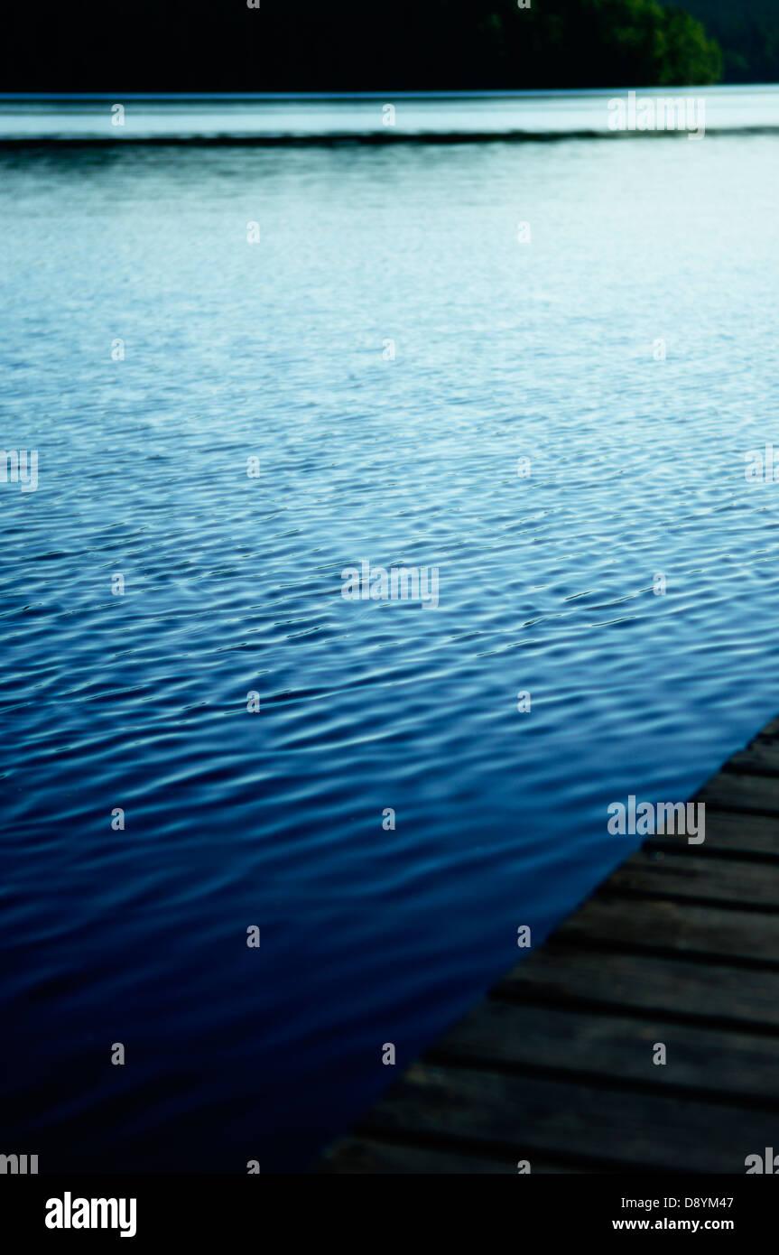 A jetty in a lake, Dalarna, Sweden. - Stock Image