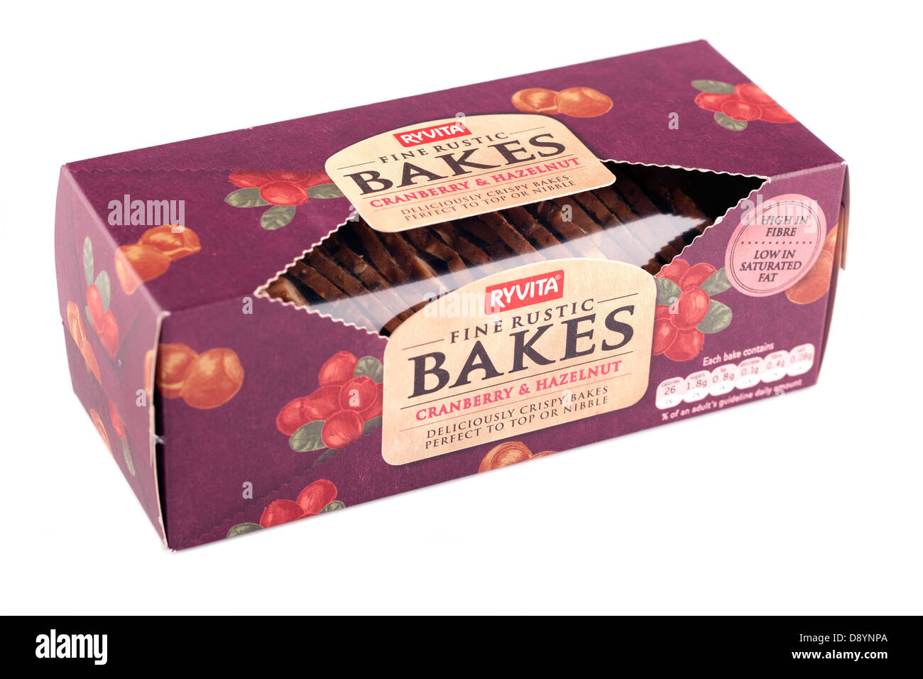 Box of Ryvita fine rustic bakes Cranberry and Hazelnut - Stock Image