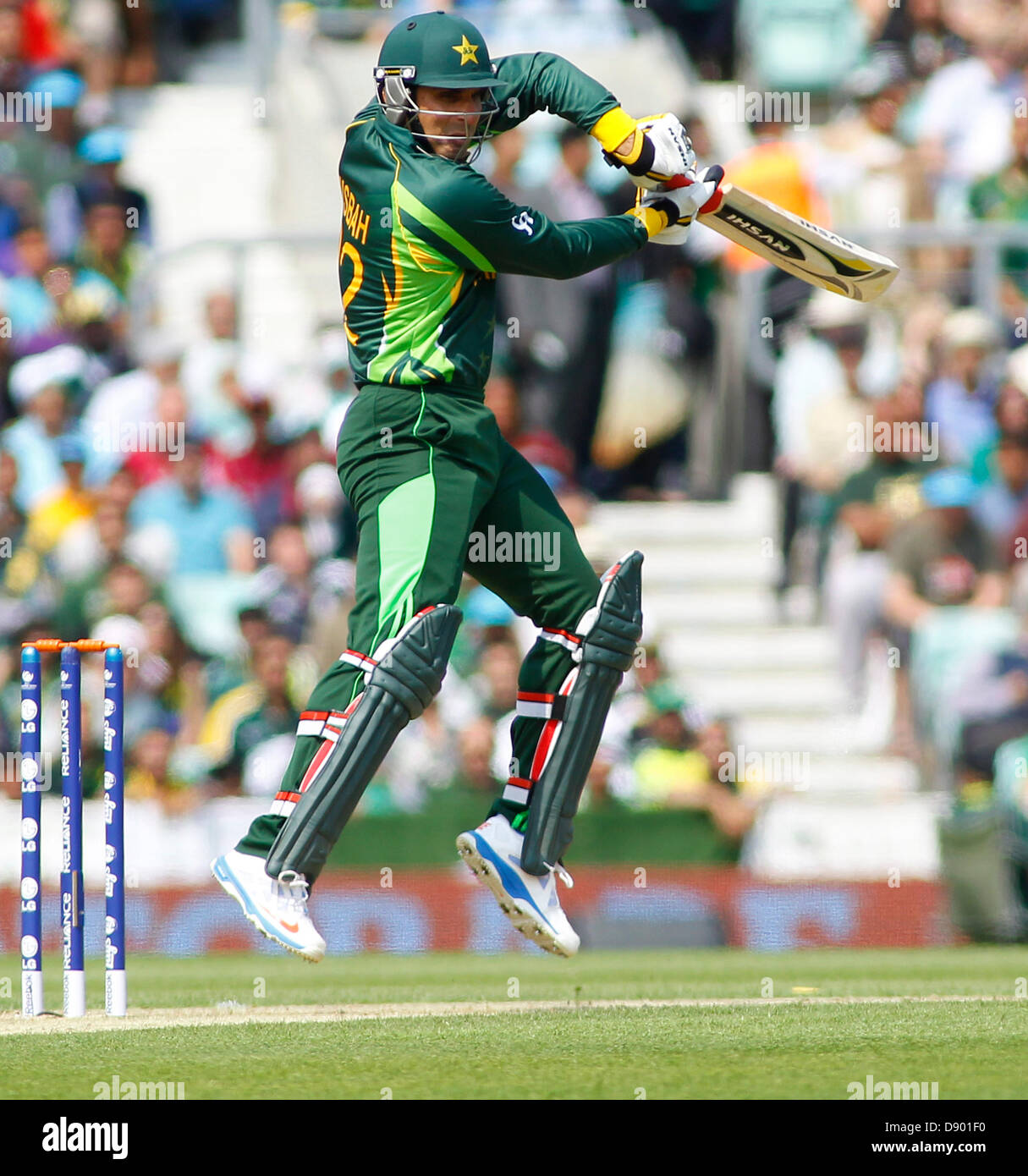 7th June 2013 Pakistans Misbah Ul Haq Batting During