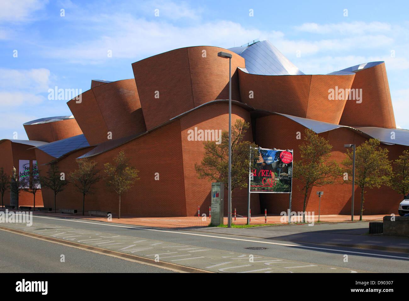 Kunstmuseum MARTa des Architekten Frank Gehry in Herford, Ravensberger Land, Nordrhein-Westfalen - Stock Image