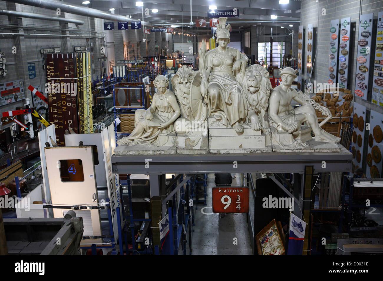 Statuary in National Rail museum York - Stock Image