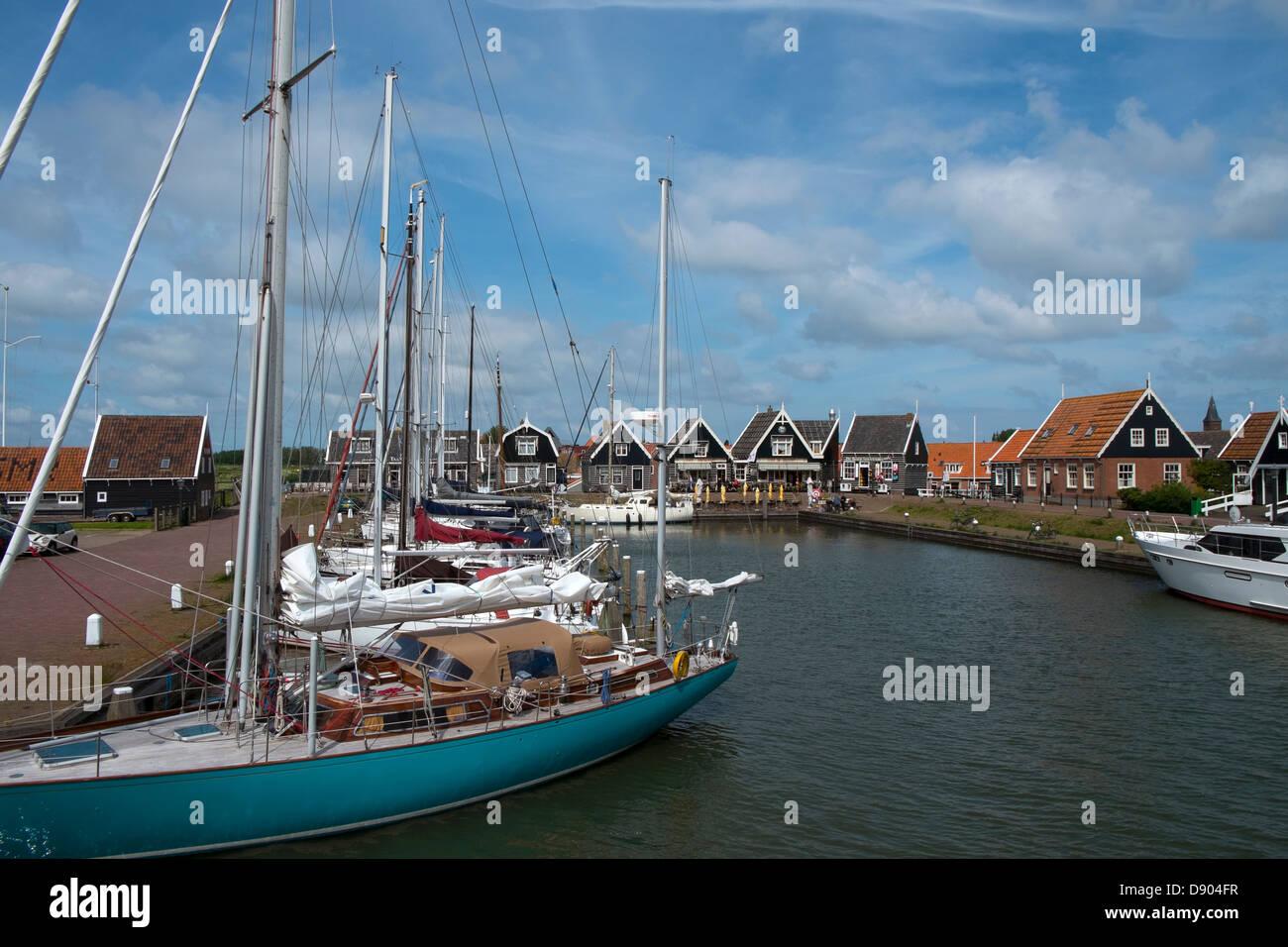 Netherlands. Marken, Harbour - Stock Image