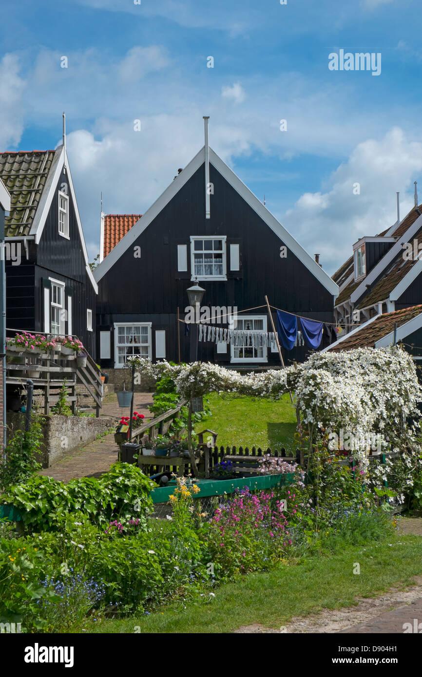 Netherlands. Marken, traditional Dutch houses - Stock Image