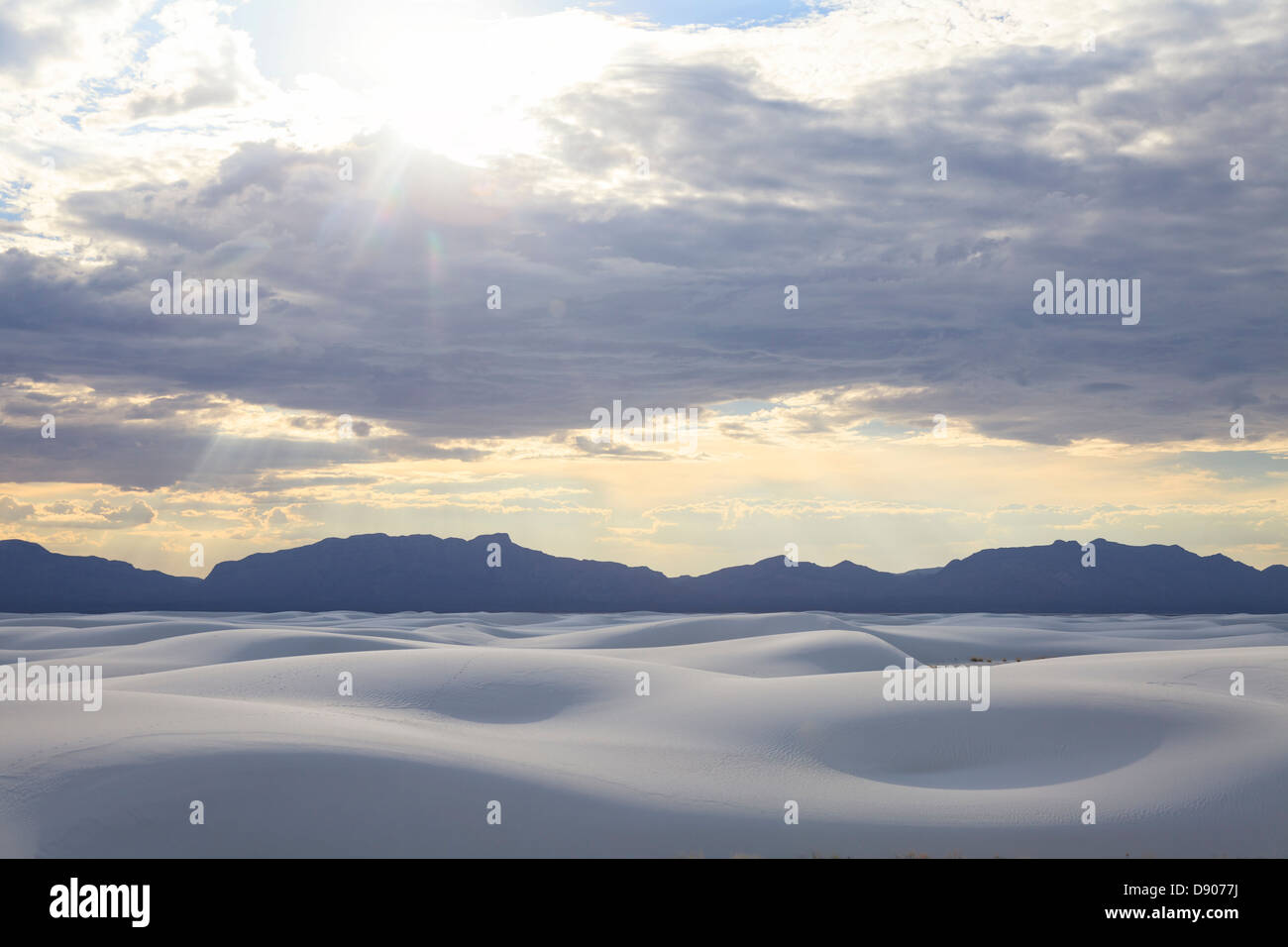 USA, New Mexico, White Sands National Monum - Stock Image