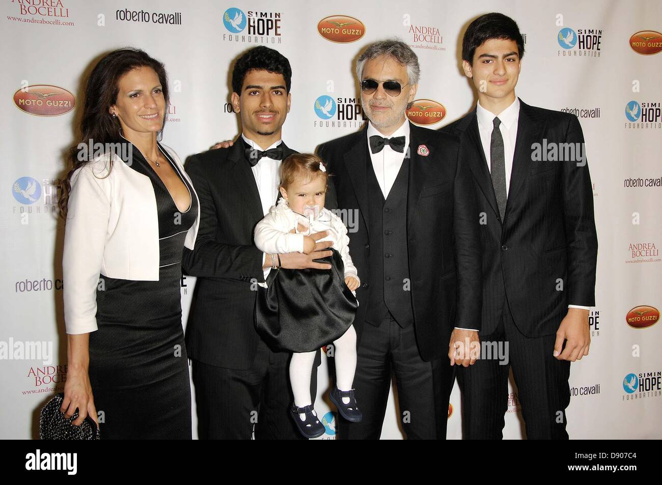 Hollywood, California, USA. 7th June 2013. A Celebration Of All Fathers' Gala Dinner With Andrea Bocelli..Jun - Stock Image